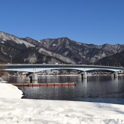 Pont du lac Kawaguchiko-Ohashi