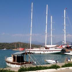 a Fethiye jachtkikötő