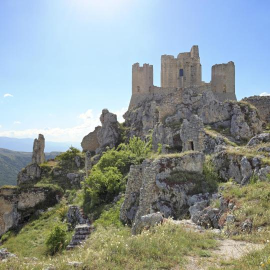 The highest fortress in the Apennines, Rocca Calascio.