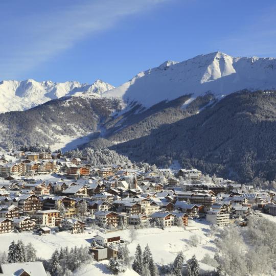 세르파우스-피스-라디스에서 스키타기