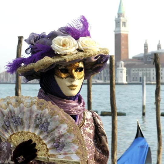 Dressing up for Venice Carnival