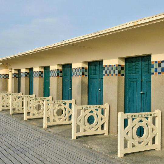 Deauville's boardwalk