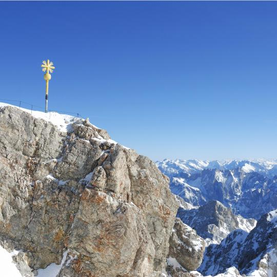 Skiing and Winter Sports on Zugspitze Mountain