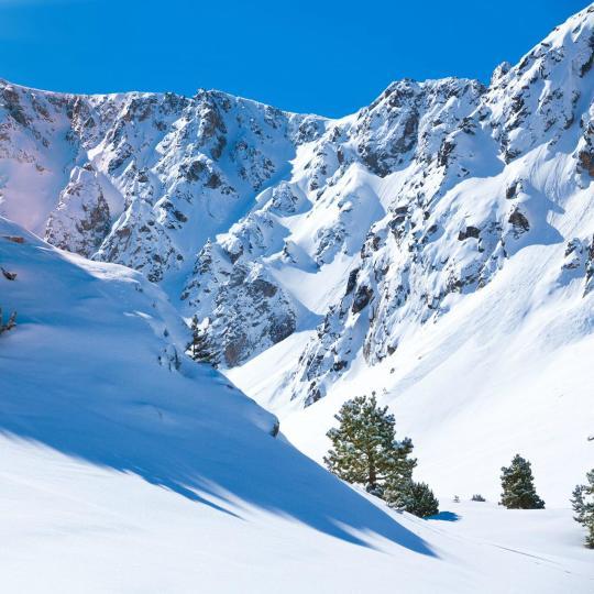 Het skiresort Font-Romeu