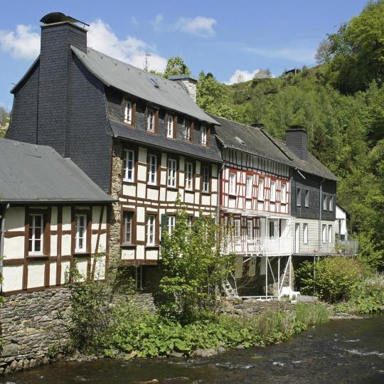 Marvel Monschau's half-timbered houses