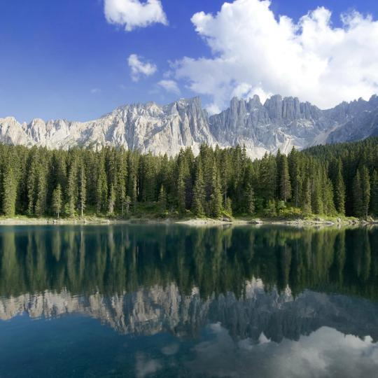 Be dazzled by Lake Carezza's rainbow of colours