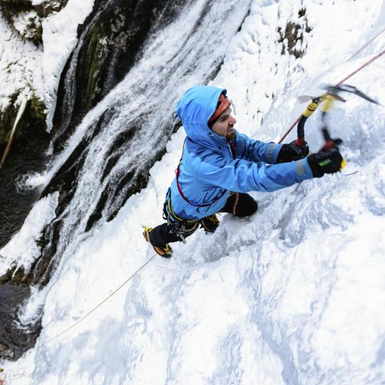 Ice climbing in San Martino di Castrozza
