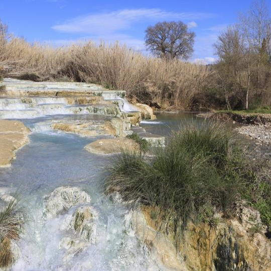 Saturnia's free hot springs