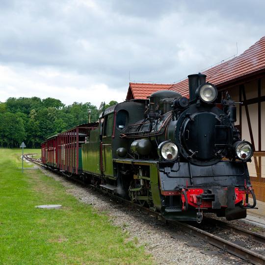 Seaside steam train