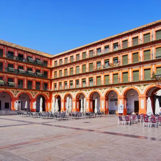 Докоснете се до Кордоба на площад Пласа де ла Коредера