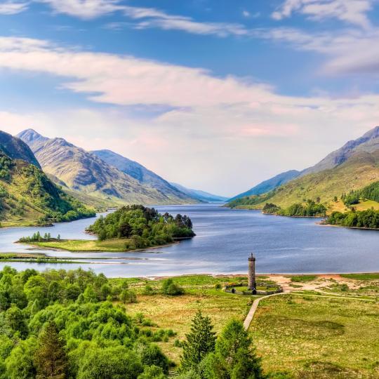 Paz en el entorno idílico de las Highlands
