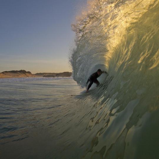 Surfing along Cote d'Argent
