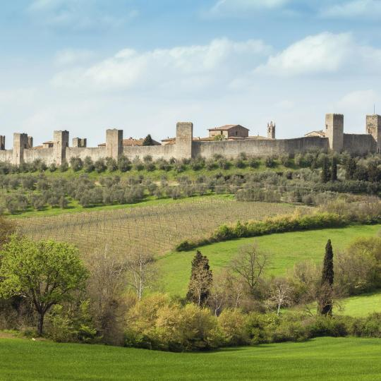 Pay a visit to the fascinating Monteriggioni