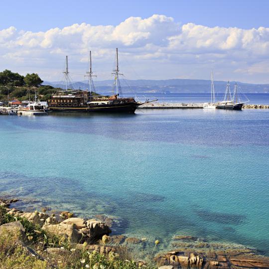 Cruise from Ormos Panagios to Mount Athos