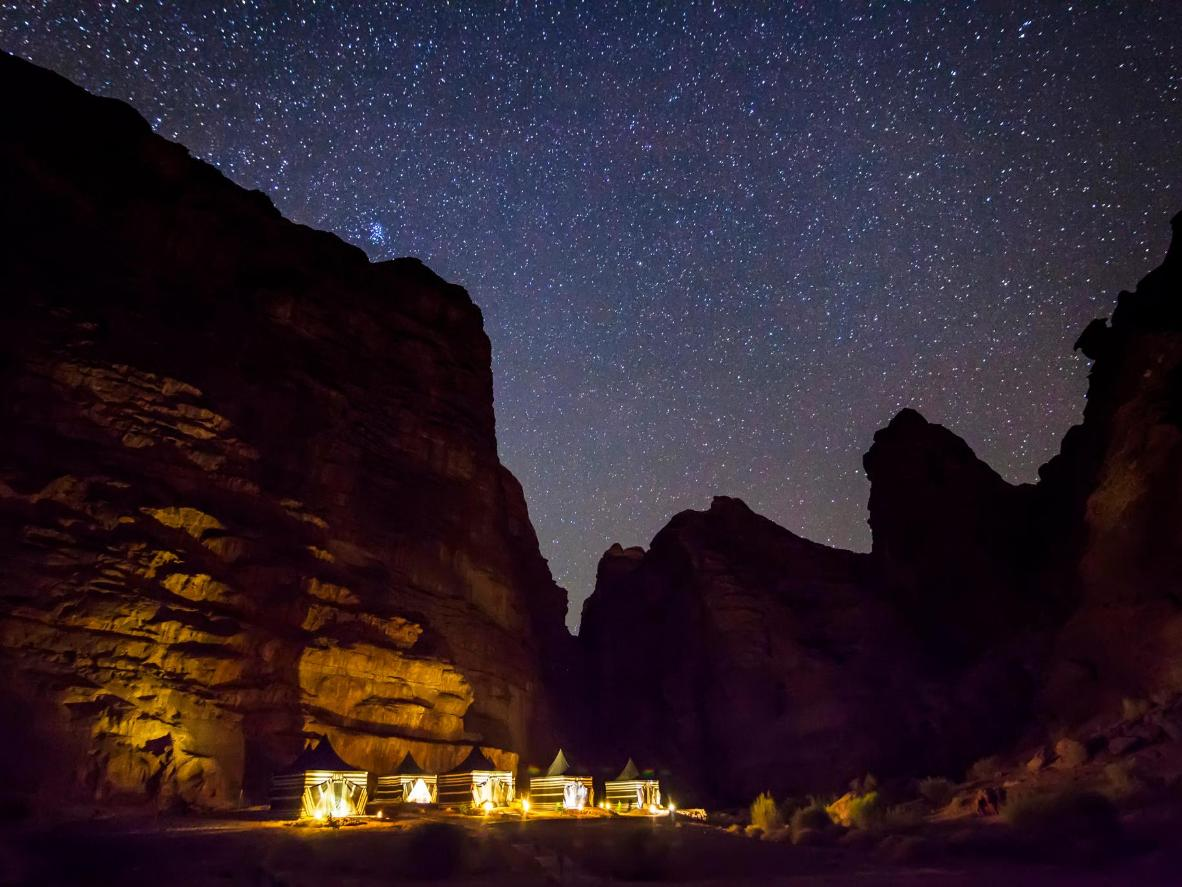 Wadi Rum's lunar landscape makes for incredible stargazing