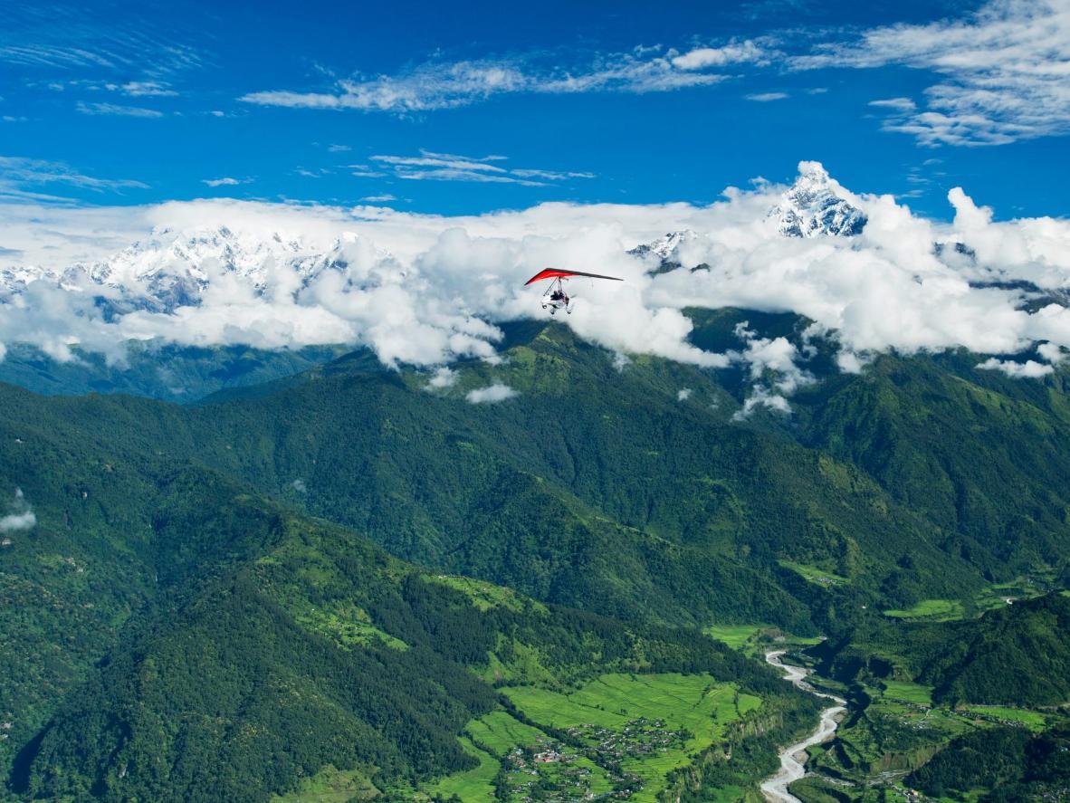 Trek through the world's highest mountains near Kathmandu