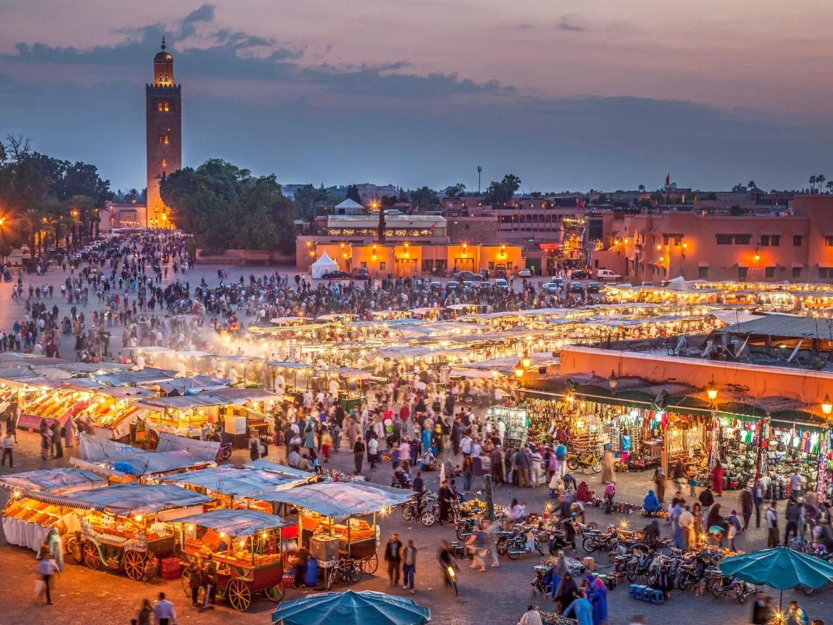 Morocco offers world-class hiking and surfing not far from Marrakech and its glittering medina