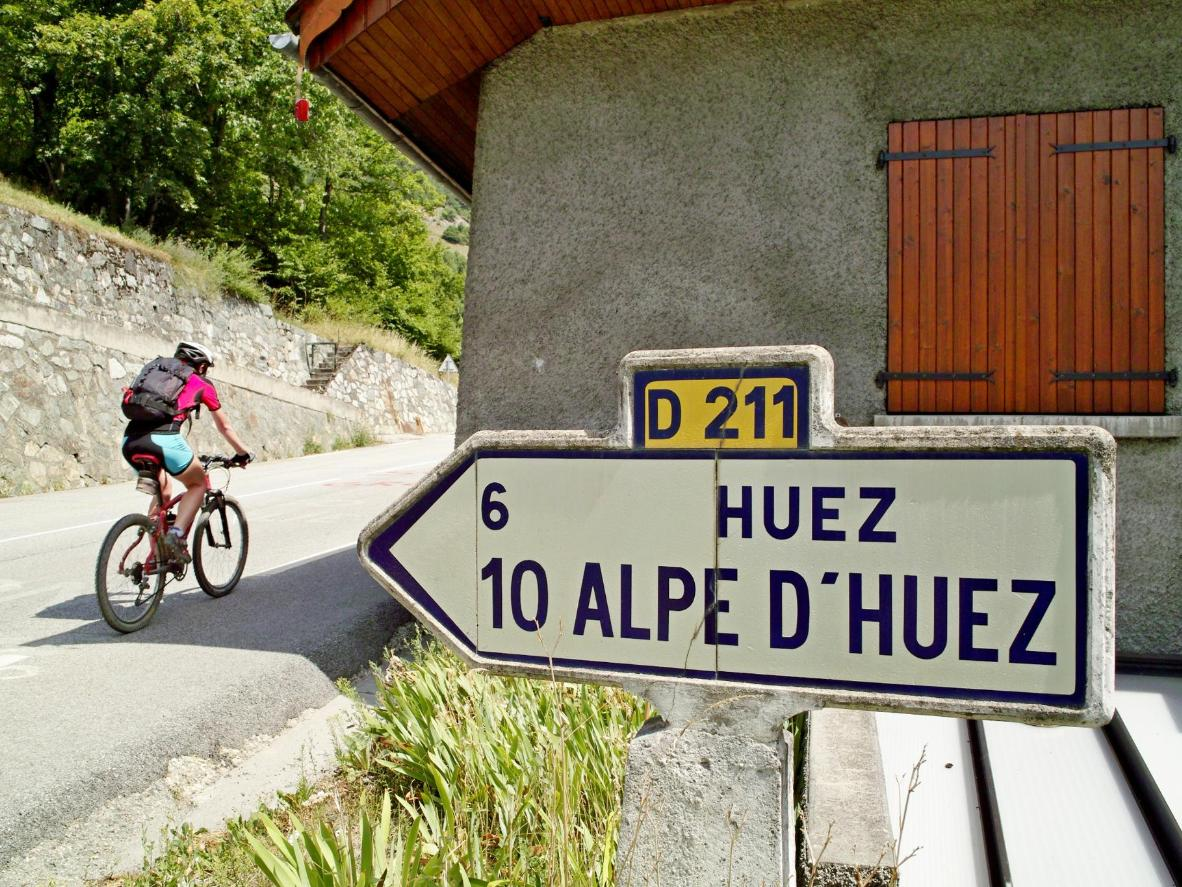 Take in the views of the surrounding valley or attempt to cycle up the mountain