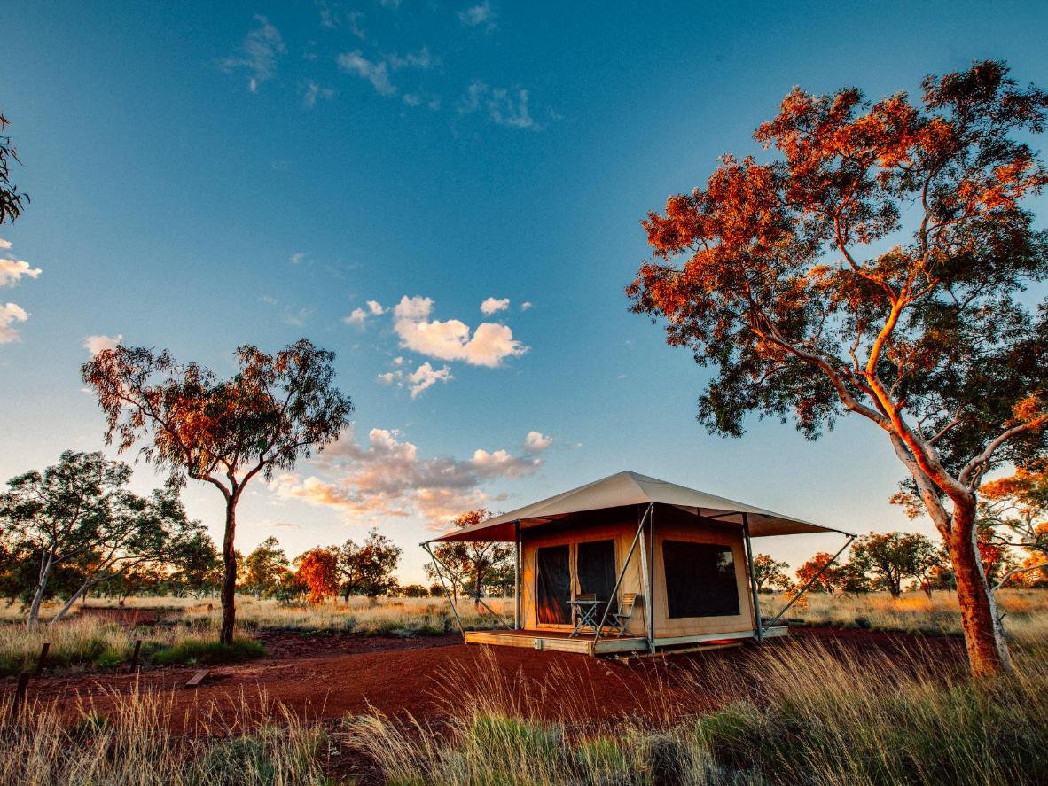 Sustainable accommodation at the Karijini Eco Retreat, Western Australia