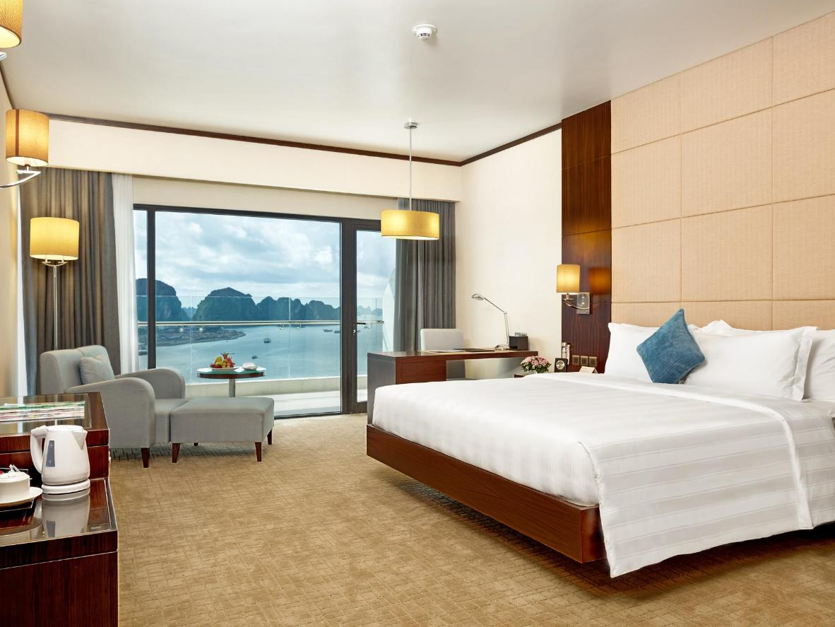 Incredible views of the bay from the Wyndham Legend Halong