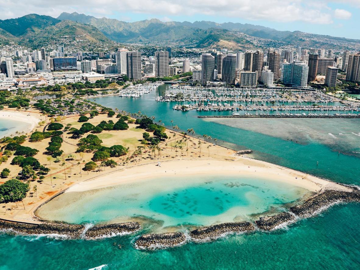 Magic Island Beach in Hawaii