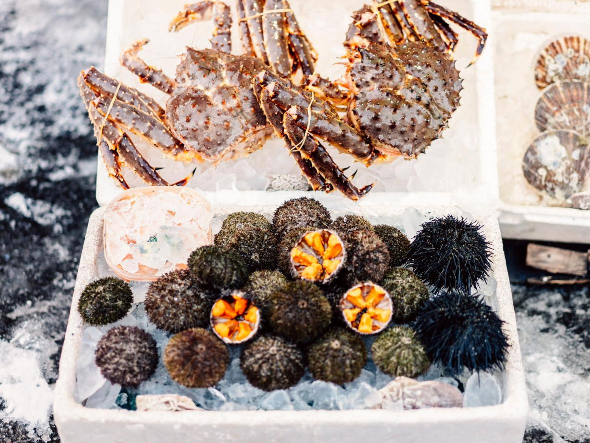 Sapporo is known for its array of delicious crabs