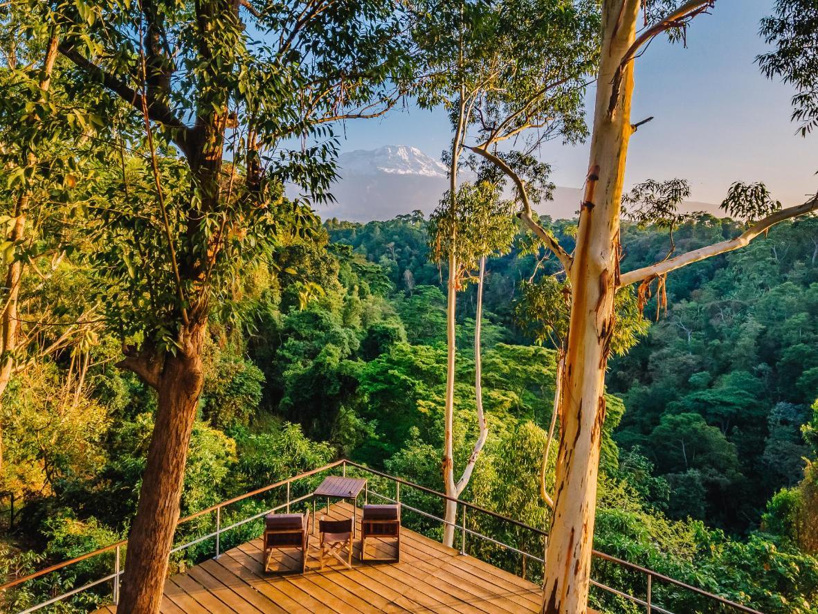 Zasluženo se odmorite na prostranom balkonu objekta Kaliwa Lodge