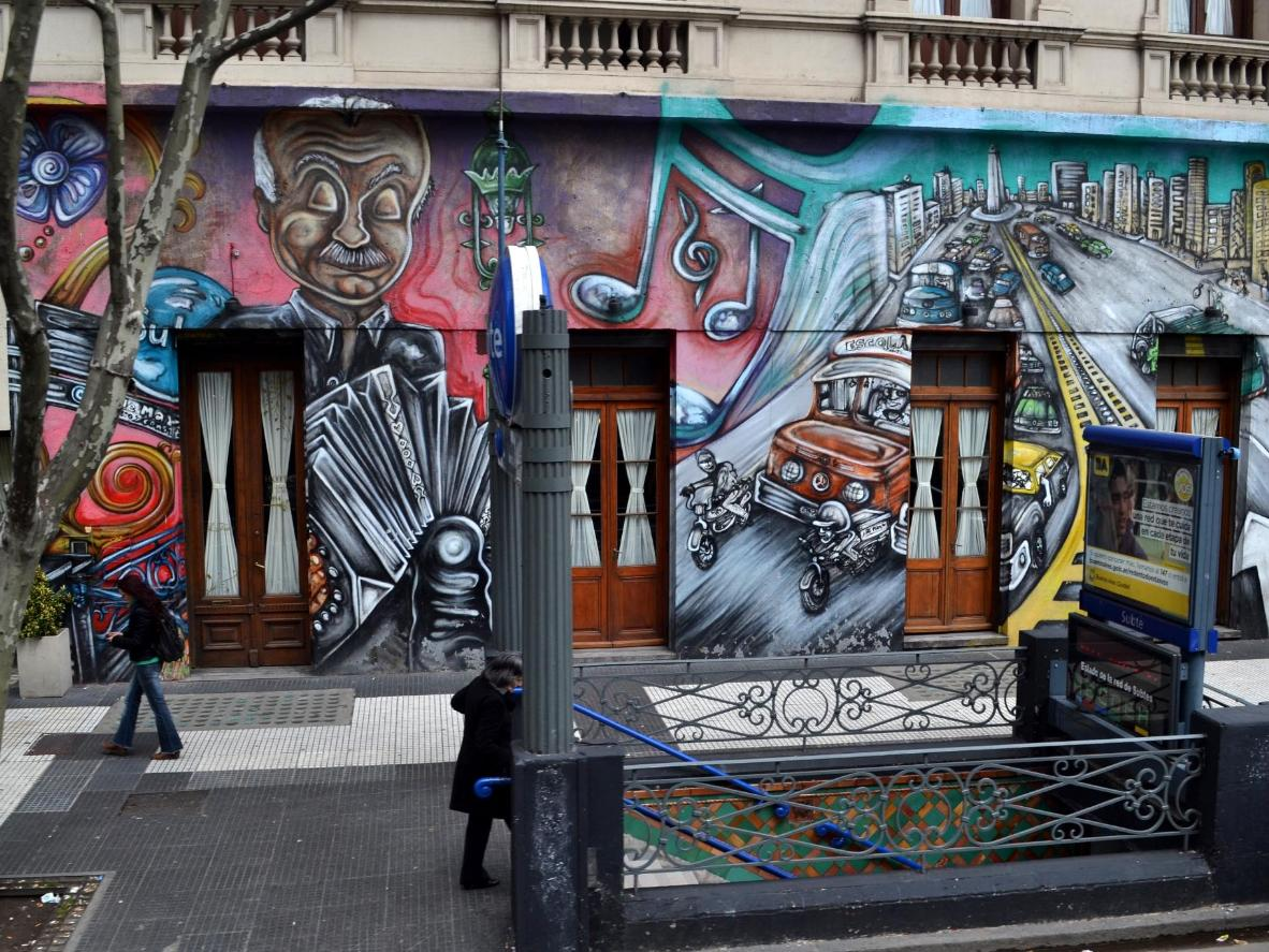 Street art in Argentina's capital city