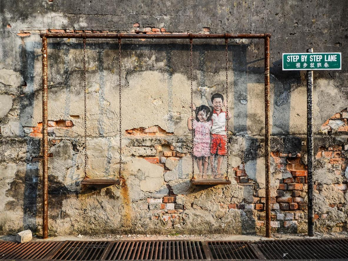 'Children on the Swing' by Louis Gan in George Town, Malaysia