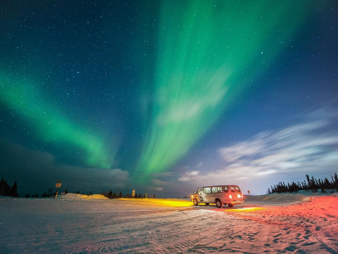 The Northern Lights are hard to miss in Fairbanks