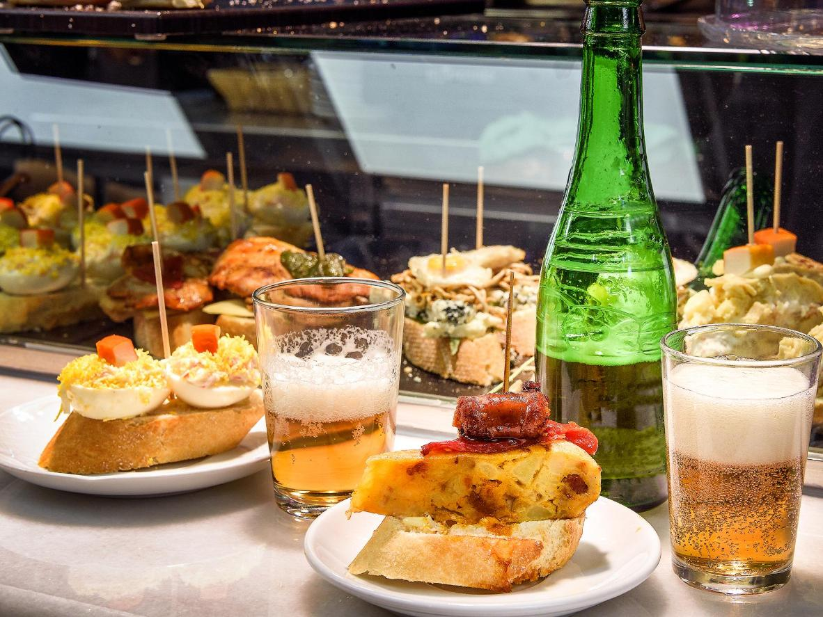 Bilbao is famous for its 'pintxos' – tapas made up of tasty toppings skewered on bread