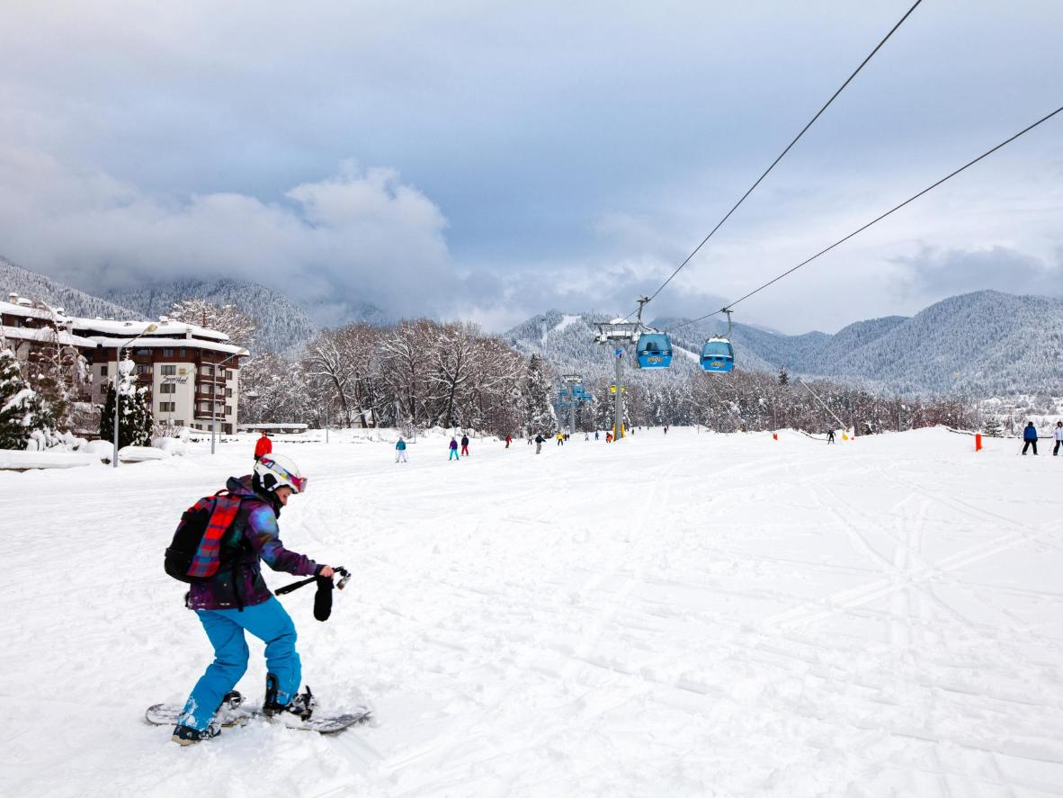 Bansko in Bulgaria is an up-and-coming ski resort