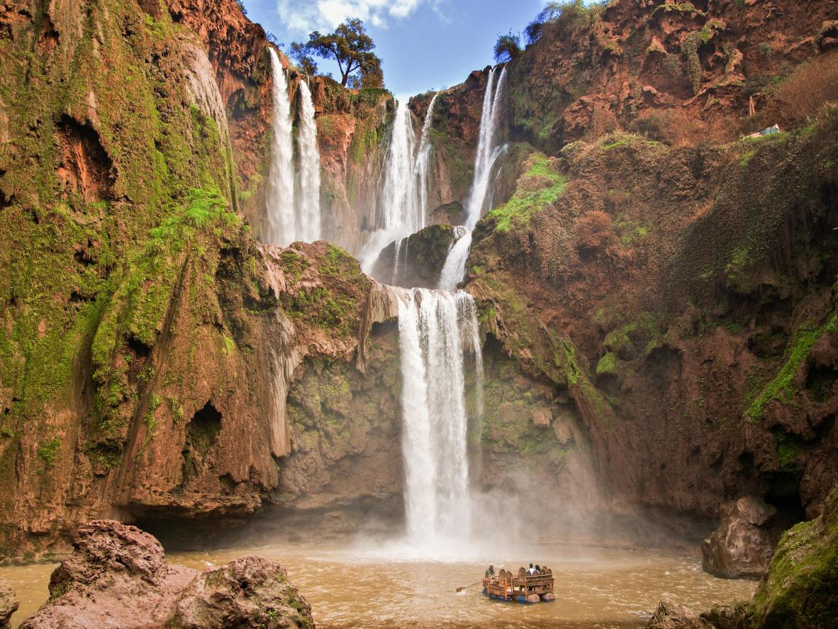 Ouzoud Falls feels like a mirage in the middle of the desert