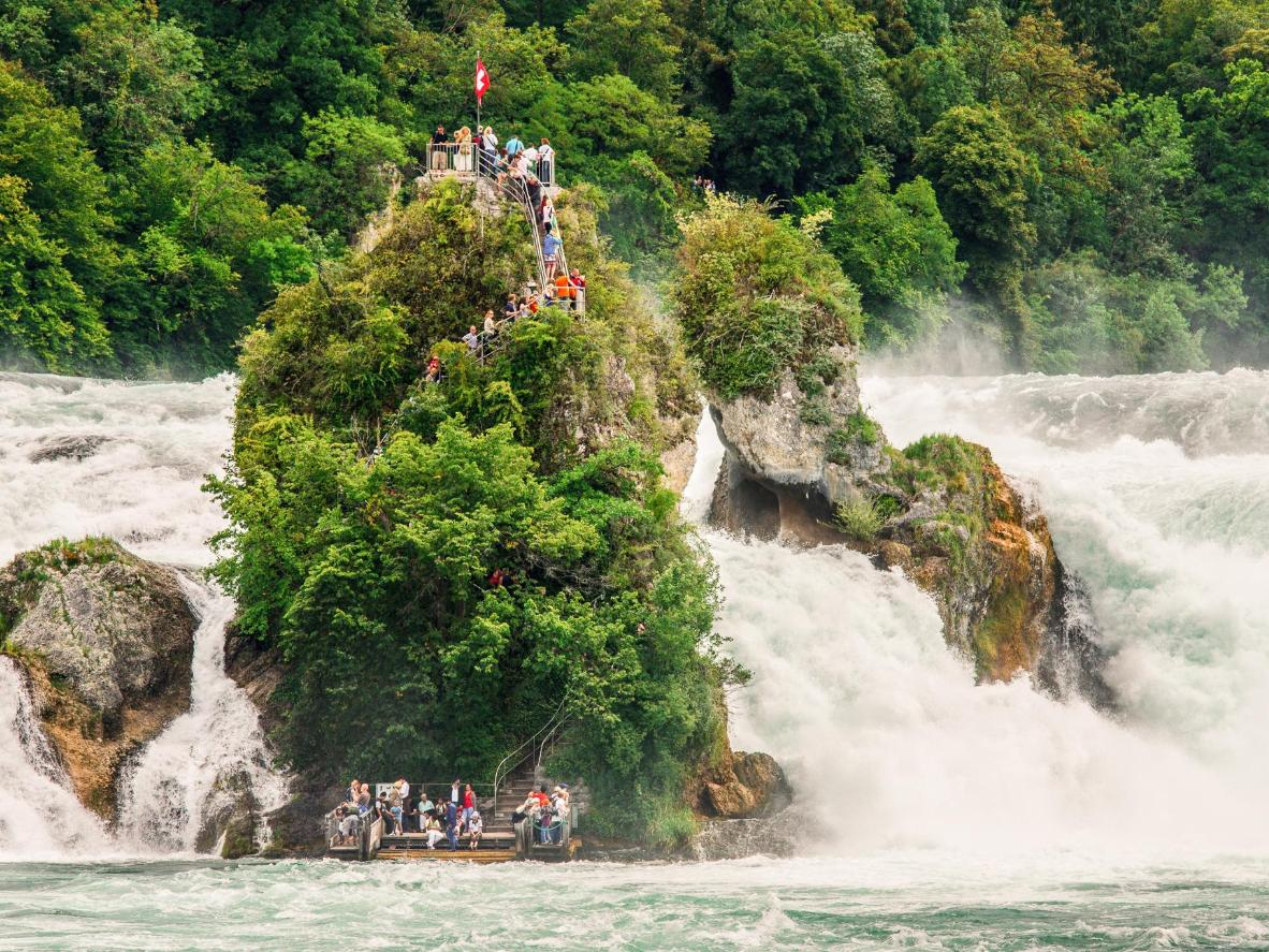 The Rhine Falls is Europe's largest waterfall
