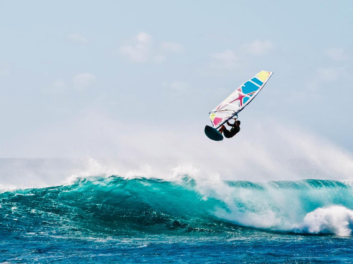 Windsurfing is a popular pastime in Cape Verde in February