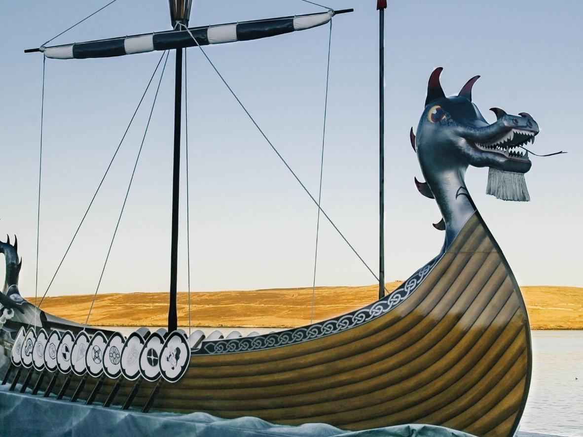Join in the local equivalent of New Year's Eve, Up Helly Aa, or head out on a remote hike on the Shetland Islands