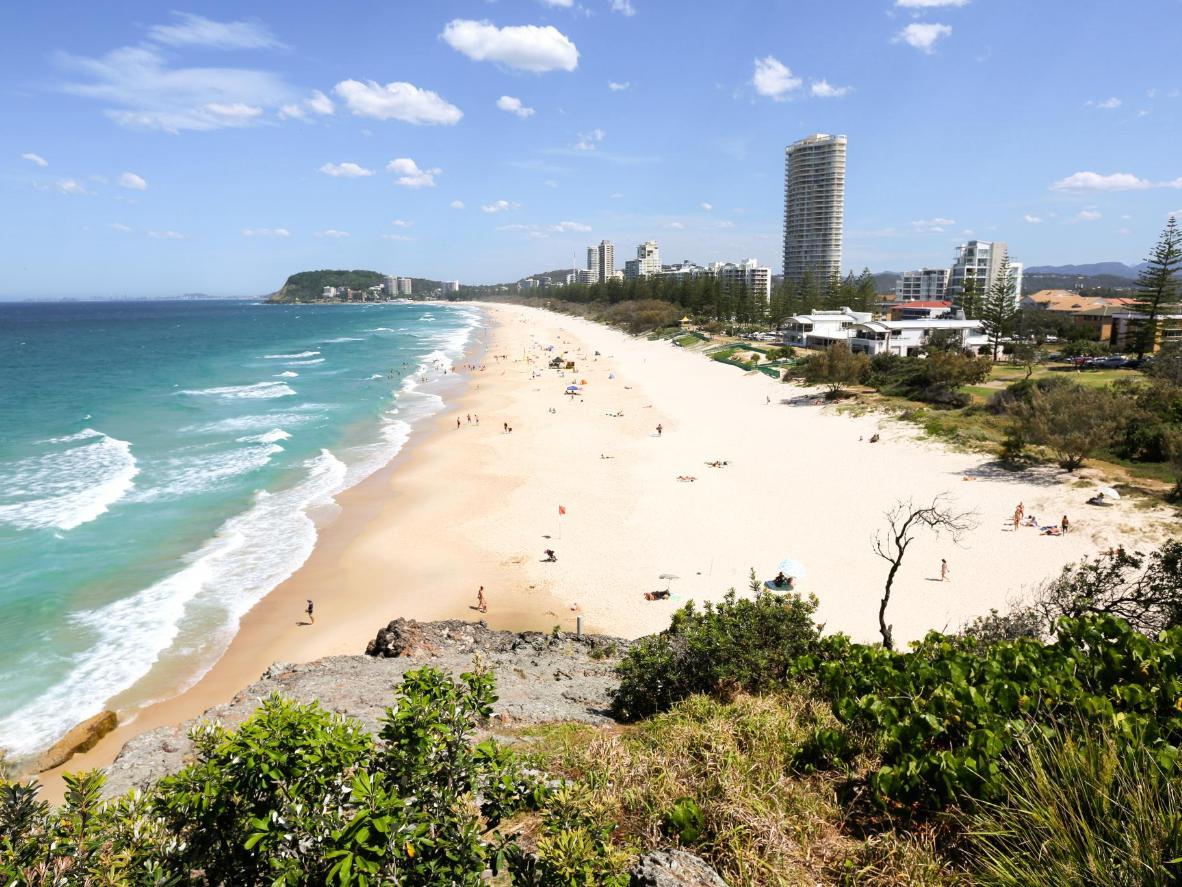 Plaža North Burleigh u Queenslandu, Australija