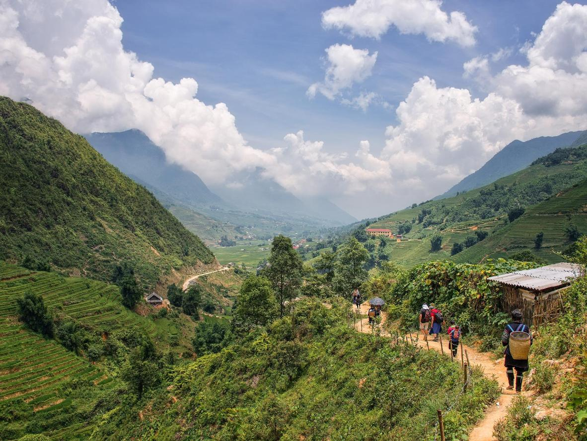 Walking routes from Sa Pa extend through valleys into remote, mountainous areas