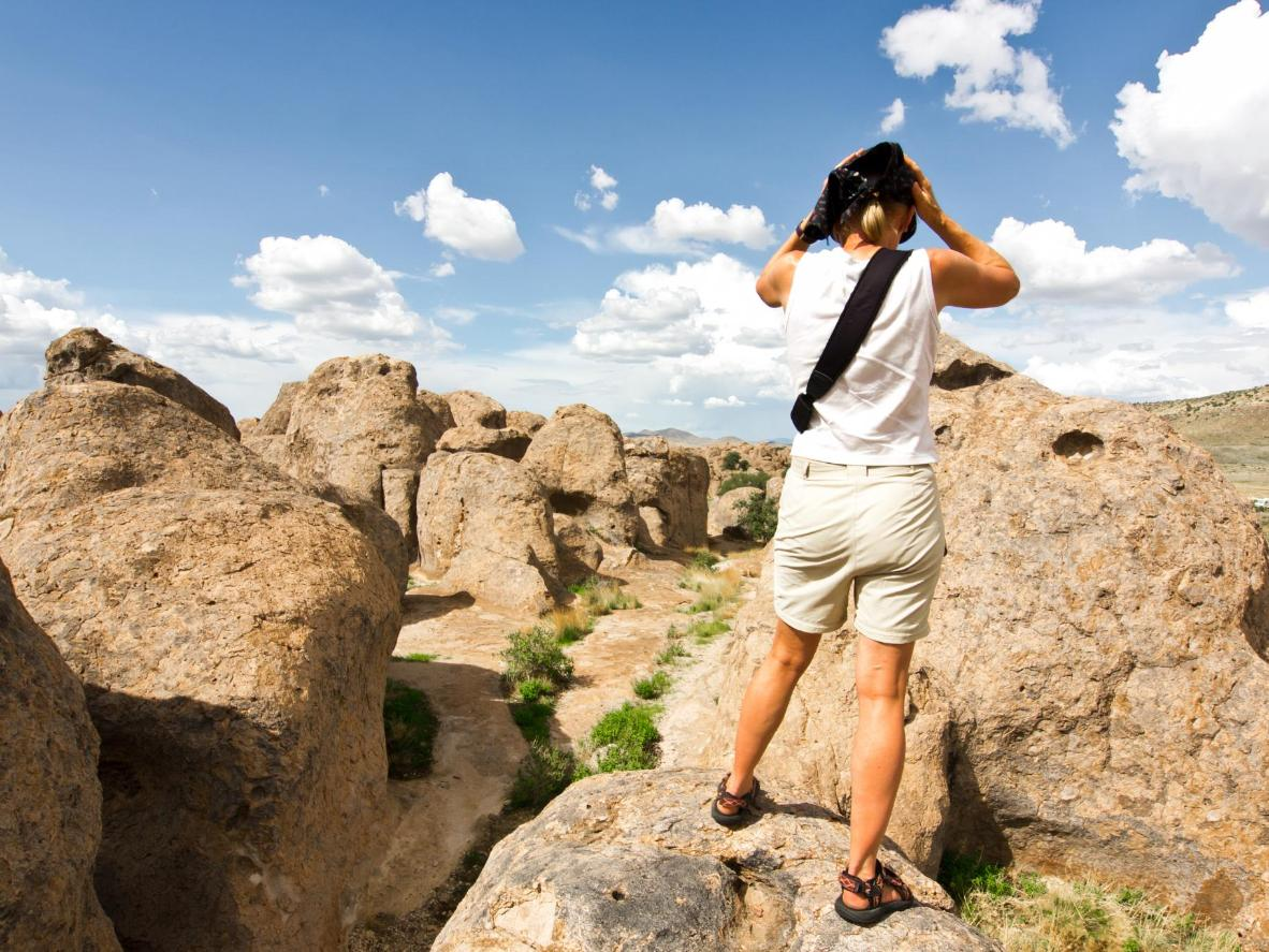 Explore the sun-drenched Franklin Mountains State Park outside El Paso