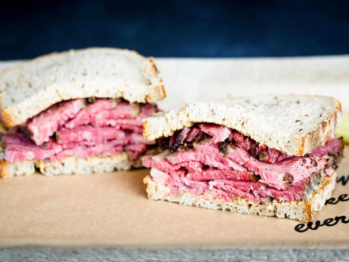 Try a home-smoked, fragrant pastrami sandwich at Wexler's Deli. Photo by Wexler's LA.