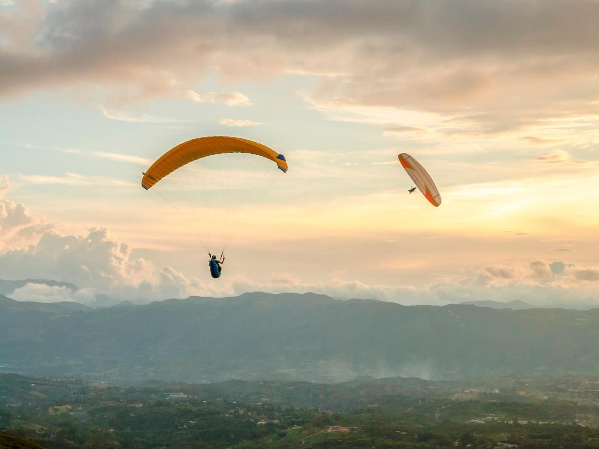 Paraglide over the extraordinary, 6,500 feet-deep Chicamocha Canyon in San Gil