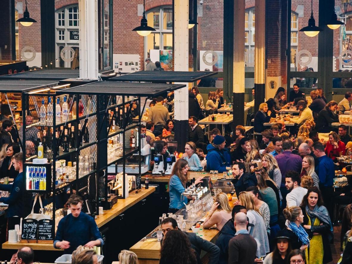 Don't miss Oud-West's food hall at De Hallen