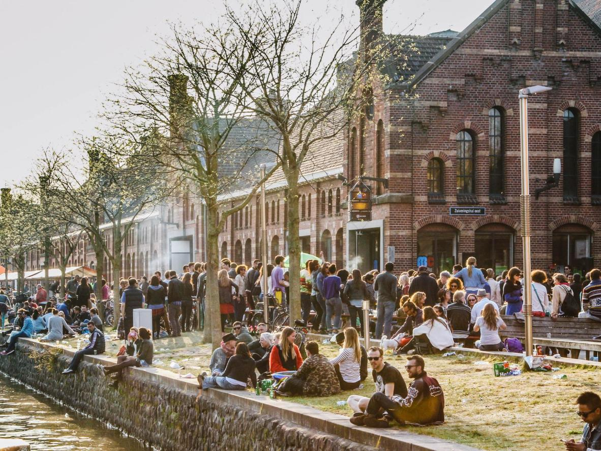 Hang out by the canals that line Amsterdam's popular Westerpark