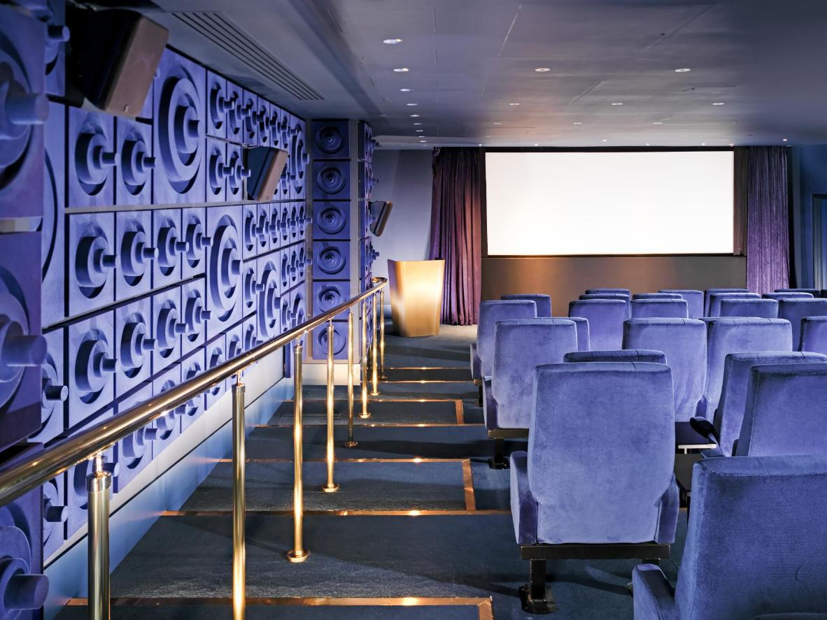 The 56-seat cinema at Sea Containers London