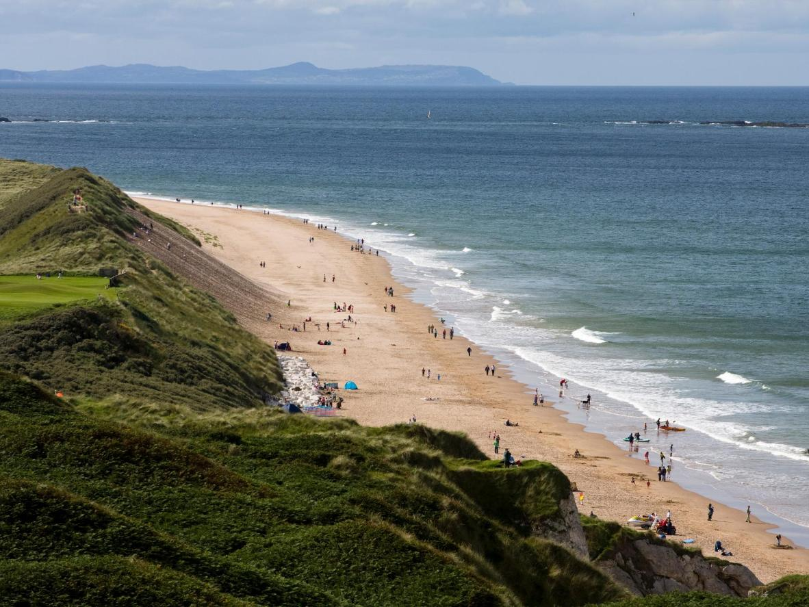 Explore caves and rock formations at this beautiful Northern Irish beach