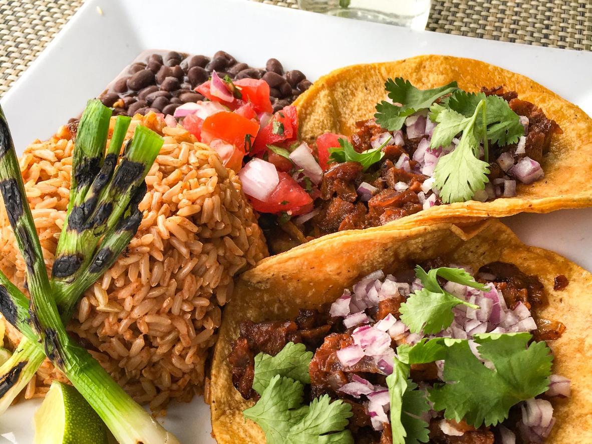 Tacos at Flore Vegan in LA