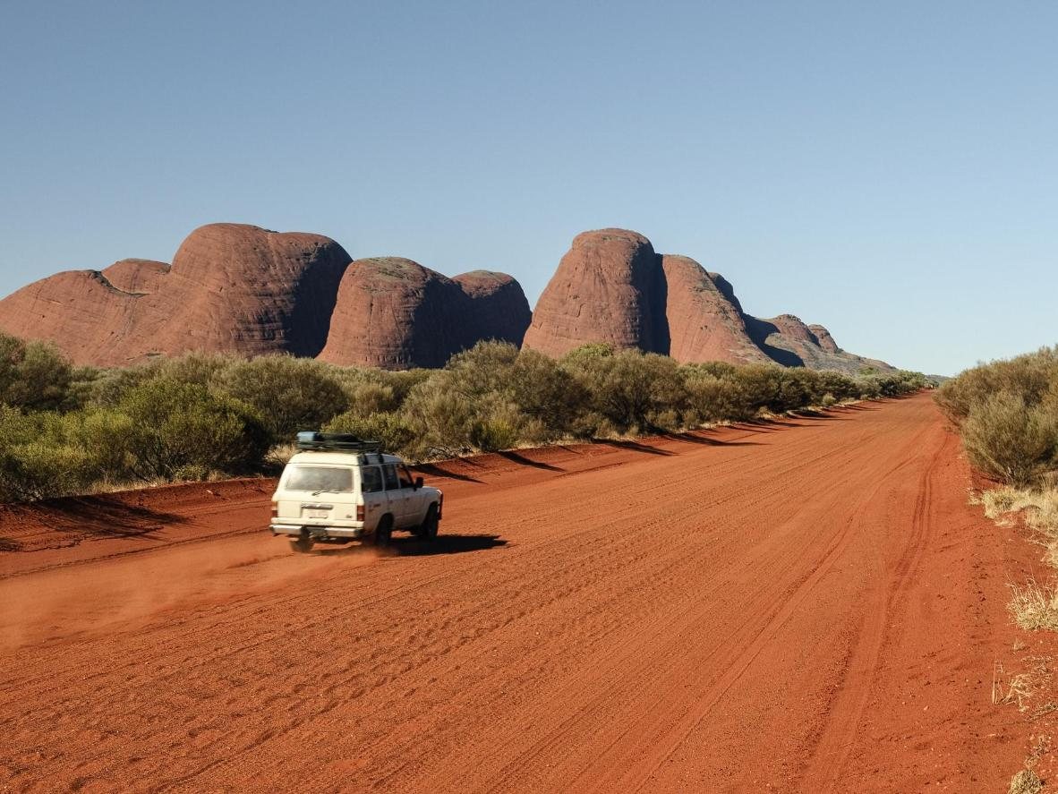 The rounded rocks of Kata Tjuta form one of the Red Centre Way's main attractions
