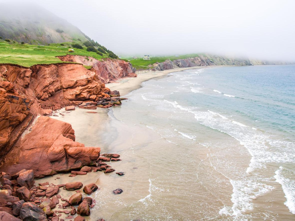 The red clay cliffs are a symbol of The Magdalen Islands
