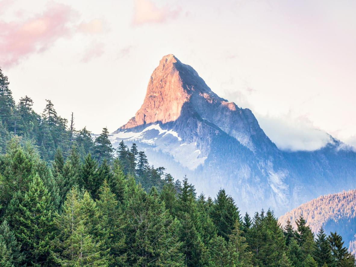 Mount Denman looming over the Desolation Sound Marine Provincial Park