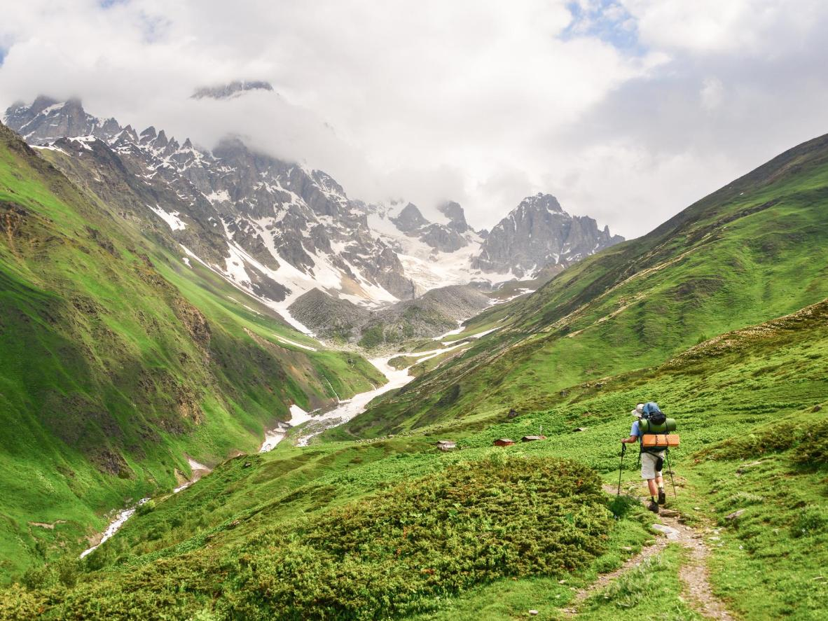 Head to Mestia to hike the snow-capped Caucasus mountains and relish their hypnotic scenery